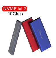 hdd estranho venda por atacado-novo USB PCIE M.2 NVMe SSD Gabinete M Key Tipo C USB 3.1 2240/2280 SSD caso de alumínio 10Gbps caixa externa de disco sólido externo