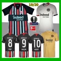 maillots noirs allemagne achat en gros de-Maillots de foot blancs 2019 Eintracht Frankfurt 19 20 jaune jaune Maillots de football noir HALLER REBIC KOSTIC PACIENCIA 2020 Allemagne