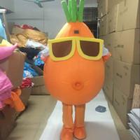 gemüse maskottchen kostüm großhandel-2018 Neue Maskottchen Kostüm Erwachsene Charakter Kostüm Maskottchen Als Mode Kostenloser Versand Tragen Gläser Karotten Gemüse
