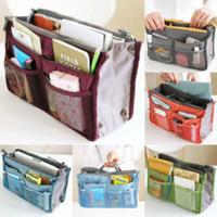 legen sie handtaschenorganisator ein großhandel-Frauen-Dame-Spielraum-Einsatz-Handtaschen-Organisator-Geldbeutel Großer Liner-Organisator-saubere Beutel-Speicher-Beutel