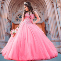 Wholesale dresses for 15 for sale - Group buy Wonderful Sweetheart Beaded Ball Gown Quinceanera Dresses Heavy Beads Crost Back Dresses for Year Plus Size Prom Party Gowns