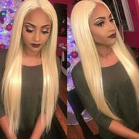 Wholesale 12 inches blonde lace wig resale online - Blonde Lace Front Wig Lace Front Human Hair Wigs For Woman Brazilian Straight Lace Wig With Baby Hair Remy Inch Beyo