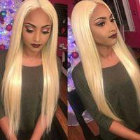 12 pouces perruque de dentelle blonde achat en gros de-Blonde Lace Front Wig 613 Lace Front Perruques De Cheveux Humains Pour Femme Brésilienne Droite Perruque En Dentelle Avec Des Cheveux De Bébé Remy 10-24 Pouce Beyo