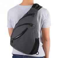 brust herren tasche großhandel-Unisex Outdoor Sports Brusttaschen Große Kapazität Wasserdichte Schultertasche Männer Frauen Leinwand Schulter Brust Pack