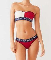ingrosso bikini copre la pancia-moda sexy costumi da bagno moda donna Il nuovo europeo retrò costume da bagno Copricapo pancia girocollo vita doppia onda costumi da bagno bikini TOM bikini
