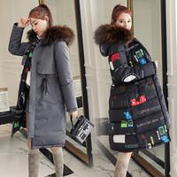 casaco casacos vestido coreano venda por atacado-2019 nova versão coreana com capuz acolchoado jaqueta de algodão de dois lados algodão vestido feminino médio-comprimento casacos de inverno