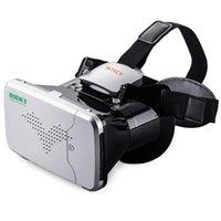 sanal tiyatro toptan satış-Sanal Gerçeklik 3D VR Gözlük Başkanı Monte Kulaklık Özel Tiyatro 3.5-6 inç Smartphone için Uzaktan Kumanda ile