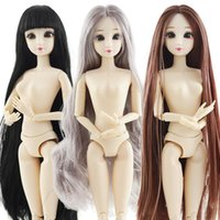 ingrosso bambole belle del bambino-30 centimetri Fashion Doll Toys for Girls 1/6 BJD Dolls Corpo Make-up occhi 3D fai da te giocattoli Ragazze bambole di plastica bella principessa bambino per le ragazze