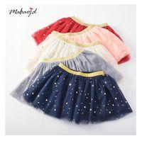 tatlı kore kızı giysileri toptan satış-Kızlar Yıldız Pullu Tutu Etekler Yaz 2019 Yeni Çocuklar Butik Giyim Kore 1-5 T Küçük Kızlar Tatlı Gazlı Bez Kısa Etekler