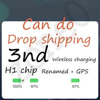 Wholesale Wireless charging Bluetooth Headphones auto paring nd gen Earphones pk pods pro W1 H1 chip AP3 i12 i7 i500 i200 headset Drop shipping