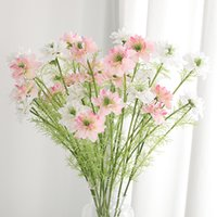 Wholesale cosmos flowers resale online - 3 Head Artificial Cosmos Flowers Party Wedding Decorations Real Touch Silk Fake flowers for Home Garden Hotel Decor Floral