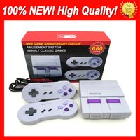 Wholesale game console snes resale online - Super Famicom Mini NES SNES SFC TV Video Handheld Game Console Newest Entertainment System Games Console English Retail Box New