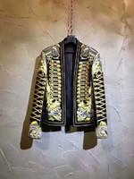 costumes chanteur vêtements achat en gros de-2017 nouveaux vêtements pour hommes personnalité de la mode brodé veste décontracté slim costume petit costume étape hip hop danseur chanteur costumes