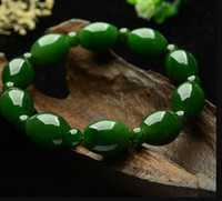 Wholesale handmade miao silver for sale - Group buy braceletTian Yu Lu and Lu Tong bracelet genuine natural spinach green jasper transport Bead Handmade Beaded Bracelet