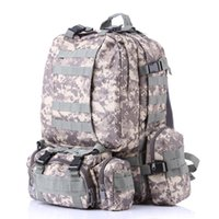 Wholesale camouflage beds resale online - Military Tactical Backpack Oxford Camouflage Travel Backpacks Outdoor Camping Trekking Bag Waterproof Army Rucksack Storage Bags GGA3129