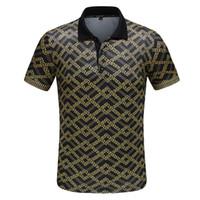 xxxl stickerei-shirt großhandel-M-XXXL 2019 Heißer Luxus Designer Polo Shirts High Street Stickerei Druck Kleidung Herren Marke Poloshirt