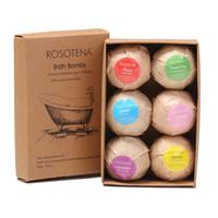 Wholesale essential oils bath for sale - Group buy 6pcs box Natural Bath Bombs Bubble Bath products Essential Oil Handmade SPA Stress Relief Exfoliating Mint Lavender Rose Flavor