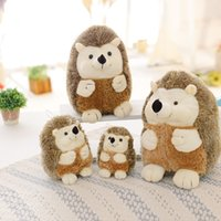 Wholesale wedding stuffed animals online - Creative imitation hedgehog doll spot small hedgehog plush toy stuffed animals factory direct sales machine wedding supplies