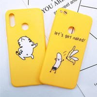 Wholesale banana phone cover online - P8 Lite Funny Banana Cat Cute Cartoon Case on for Huawei mate lite Phone Case for Huawei P20 Pro soft Back Cover
