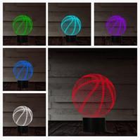 neuheit führte kind lampe großhandel-Basketball Nachtlicht Kind Nachttischlampen Touch Tischlampe 3D Led-leuchten Kreative Neuheit Neue Ankunft 29 5fl O1
