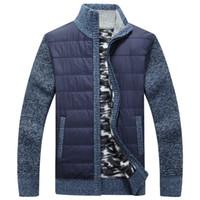 forro revestimento de camisola venda por atacado-dos homens SweaterCoat Inverno Fleece Cashmere Liner Wool Sweater casaco quente Knitwear Casual Jackets Men Outono Zipper malha grossa