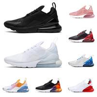 zapatos de arco iris de las mujeres al por mayor-2020 nike air max airmax 270 hombres mujeres zapatos para correr triple negro blanco arco iris Bred Photo Blue hombres transpirable para hombre zapatillas de deporte al aire libre