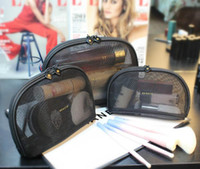 pochettes pour cadeaux achat en gros de-Femmes maille célèbre marque 3pcs / set vanité cas cosmétique luxe maquillage organisateur sac trousse de toilette pochette boutique cadeau de mariage (Anita Liao)