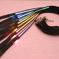 ingrosso guinzaglio nero guidato-Animali domestici Collare di sicurezza per cani 8 colori LED Guinzaglio Cintura di salvataggio Cintura lampeggiante Piombo leggero Nylon nero