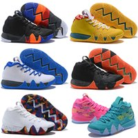 size 40 ec0e1 8d6b5 Kyrie New Irving 4 Men Basketball Shoes White Black Grey Yellow Green Red Multicolor  Kyries Outdoor Athletic Casual Sports Sneaker Size 7-12