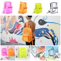 ingrosso tipi borse per ragazze-Zaino in PVC trasparente per ragazza da spiaggia Borsa in plastica impermeabile per studenti Borsa di stoccaggio impermeabile 4 tipi T3I5275