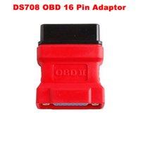 conector wifi obd2 al por mayor-Para Autel Maxidas DS708 escáner OBD2 OBD II conector 16 pin adaptador ds708 obd16 pin conector envío gratis
