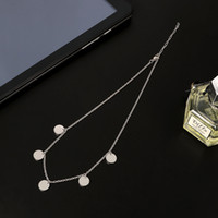 Wholesale simple small necklace for sale - Group buy New Fashion Simple Design Small Round Crystal Pendant Necklaces For Engagement Anniversary Party Gift