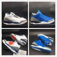 zapatillas actualizadas al por mayor-Actualización de las zapatillas de baloncesto OG Tres 2019 Azul Negro Blanco Diseñador único Look de moda para hombre Entrenador Zapatillas deportivas con caja