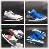Wholesale updated sneakers resale online - Update OG Basketball Shoes Three Blue Black White Unique Designer Fashion Look Mens Trainer Sports Sneakers With Box