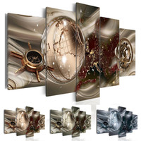 Wholesale brown wall panel art for sale - Group buy Fashion Wall Art Canvas Painting Pieces Brown Green Blue Diamond Abstract Modern Map Home Decoration No Frame