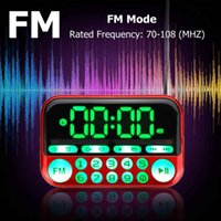 Wholesale mp3 player alarm clock resale online - Portable Digital Display FM Radio TF Card USB MP3 Music Player Clock Alarm Radio Speaker