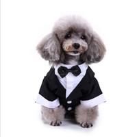 roupas de casamento extra grande venda por atacado-Tamanhos paletó Wedding Pet Dog Cat Clothes Príncipe Tuxedo Bow Tie filhote de cachorro para grandes cão pequeno frete grátis