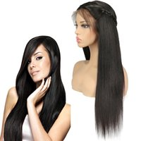 brezilya dantel peruk fiyatları toptan satış-Fabrika Düz Brezilyalı Remy İnsan Saç Dantel Ön Peruk 8-24 Inç Koparıp Düz İnsan Virgin Saç Peruk Siyah Kadınlar için Toptan Fiyat