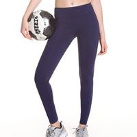 ingrosso mescolare i pantaloni di yoga-Pantaloni Fitness Pantaloni aderenti Pantaloni sportivi Donna Yoga Colori classici tinti Mix Little Feet Fashion 35hqf1