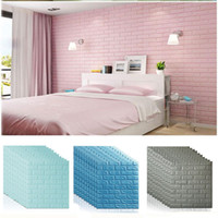 Wholesale wall covers resale online - 70 D Wall Stickers DIY Self Adhensive Decor Foam Waterproof Wall Decorations Covering Wall Kids Living Room Decorations XD22506