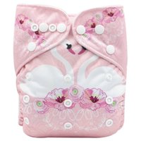 Wholesale size girls diapers resale online - OEM ODM One size Pocket Digital Printing diapers Baby Diapers Reuseable Washable Pocket Cloth Diaper Nappy for kg boys girls