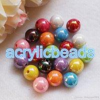ingrosso perline opache-150pcs 8mm Cina opaco fabbrica rotonda AB finiti Perle acrilico colori solidi Spacer Beads per Girl accessorio dei monili fai da te