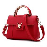 Wholesale ladies office bag resale online - Fashion Designer Handbags Women PU Leather Bags Ladies Portable Shoulder Handbag Office Ladies Hobos Bag Totes In Stock