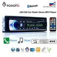 araba dvd alıcıları toptan satış-Podofo Bluetooth Autoradio Araba Stereo Radyo FM Aux Girişi Alıcı SD USB JSD-520 12 V In-dash 1 Din Araba MP3 Multimedya Oynatıcı Araba DVD Oynatıcı