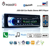 radio mp3 auto usb dvd groihandel-Podofo Bluetooth Autoradio Autoradio UKW-Aux-Eingangsempfänger SD USB JSD-520 12 V In-Dash 1 Din Auto MP3 Multimedia Player Auto DVD-Player
