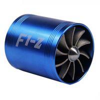 einlass-turbinen großhandel-65-74mm Auto Auto Refit Turbo Lufteinlass Turbine Gas Heizöl Saver Fan Turbolader Turbine Fit für Luftansaugschlauch