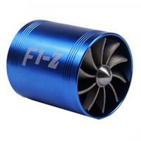 turbinas de admissão venda por atacado-65-74mm Auto Reequipamento Do Carro Turbo Intake Turbina Turbina De Gás De Combustível De Óleo Saver Fan Turbo Supercharger Turbine Fit para Mangueira De Admissão De Ar