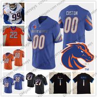 m cordon achat en gros de-Personnalisé Boise State Broncos 2019 Football NCAA N'importe quel numéro Numéro Blanc Orange Noir Bleu 10 Chasse Cord 19 Hank Bachmeier Vander Esch Jersey