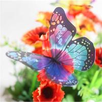 ingrosso adesivi a cristallo di farfalla-3D Crystal Butterfly Wall Sticker Festa di nozze Decalcomania Home Decor Adesivi murali FAI DA TE Stickers murali per la decorazione di Natale 18 pz / set