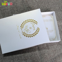 Wholesale wedding cards acrylic resale online - high grade luxurious royal wedding invitation card clear acrylic card with box